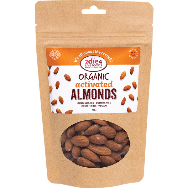 2die4 Live Foods-Activated Organic Almonds 120G