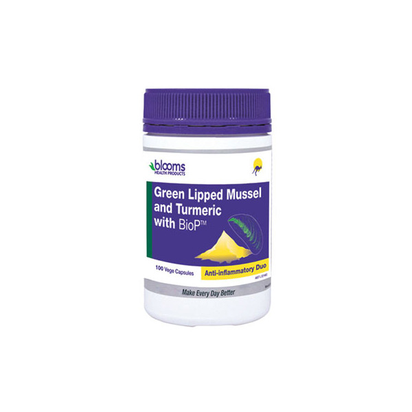 Blooms-Green Lipped Mussel 500MG and Turmeric 1500MG 100VC