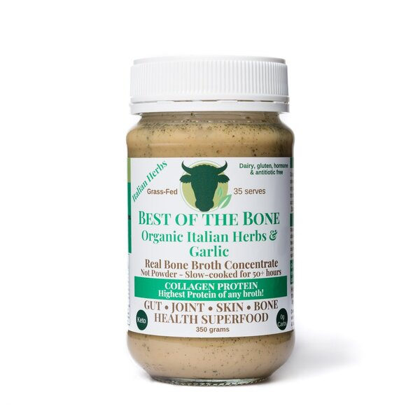 Best Of The Bone-Bone Broth Organic Italian Herbs & Garlic 350G