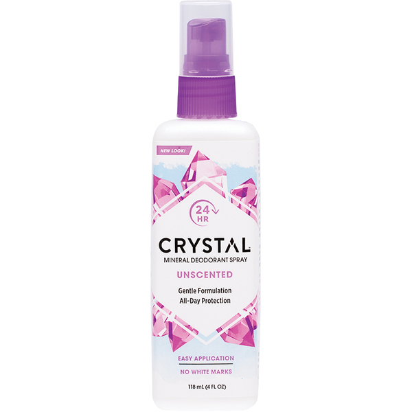 Crystal-Body Deodorant Spray Unscented 118ML