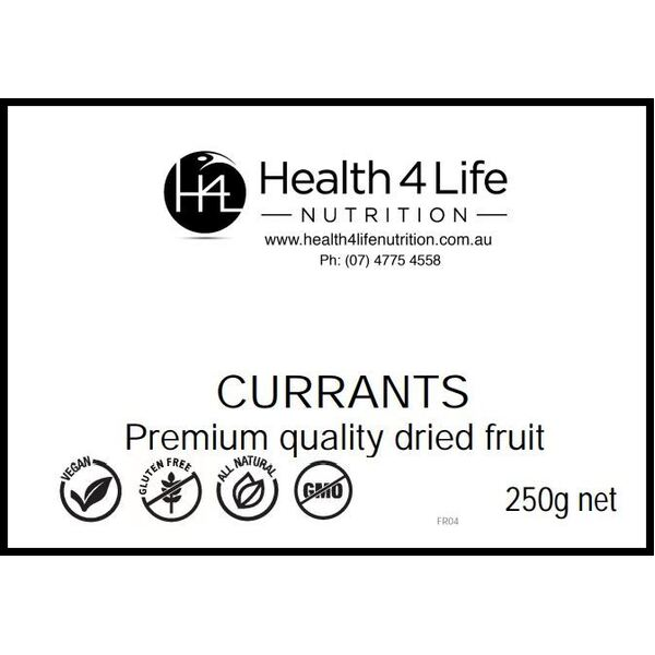 Health 4 Life Nutrition-Currants 250G
