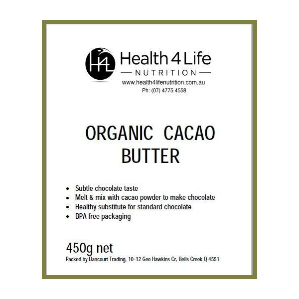 Health 4 Life Nutrition-Organic Cacao Butter 450G