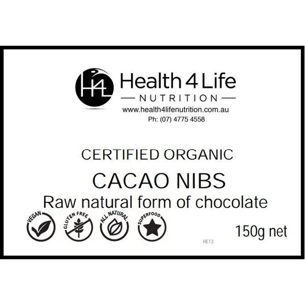 Health 4 Life Nutrition-Organic Cacao Nibs 150G