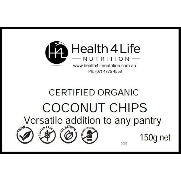 Health 4 Life Nutrition-Organic Coconut Chips 150G