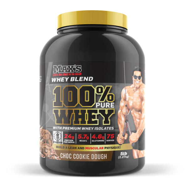 MAX's-100% Whey Protein Choc Cookie Dough 5LB