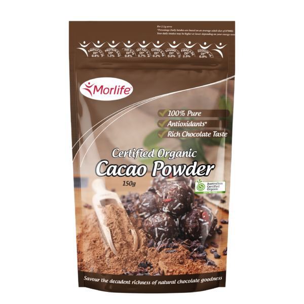 Morlife-Organic Cacao Powder 150G