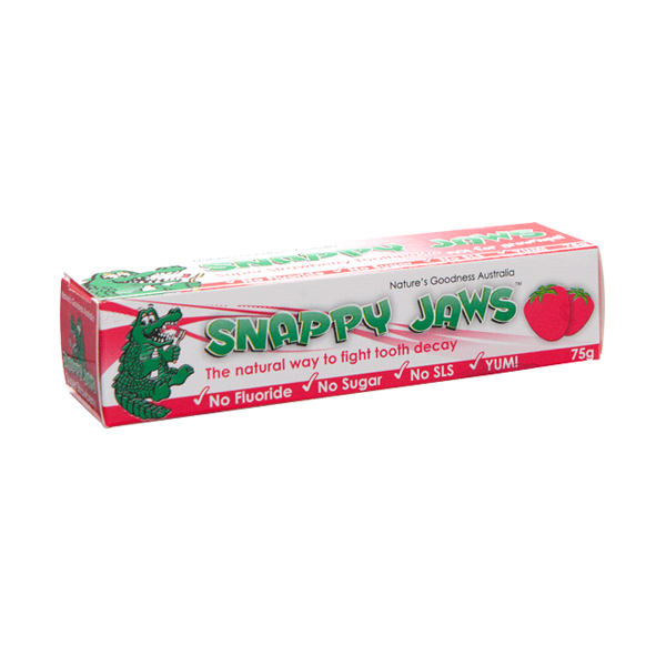 Nature's Goodness-Snappy Jaws Toothpaste Super Strawberry 75G