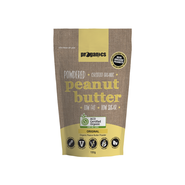 Proganics-Organic Powdered Peanut Butter Original 150g