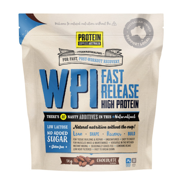 Protein Supplies Australia-WPI Chocolate 1KG
