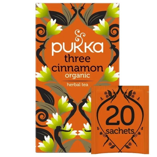 Pukka-Three Cinnamon Herbal Tea Sachets