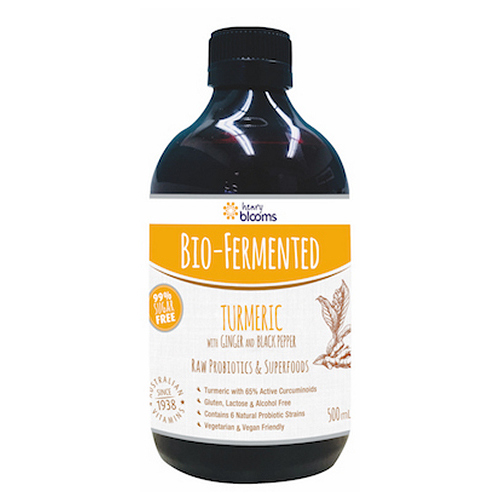 Blooms-Bio Fermented Turmeric with Ginger and Black Pepper 500ML