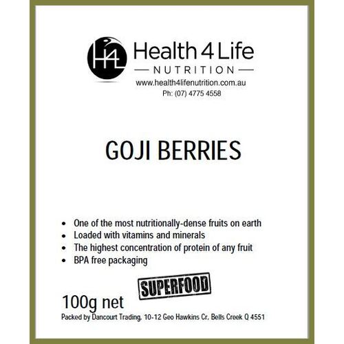 Health 4 Life Nutrition-Goji Berries 100G