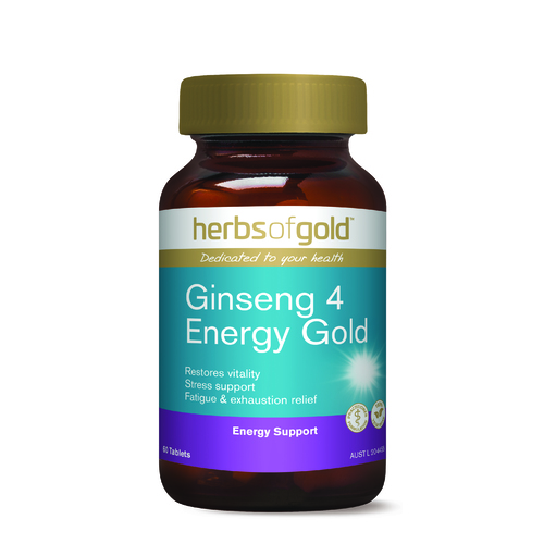 Herbs of Gold-Ginseng 4 Energy Gold 60T