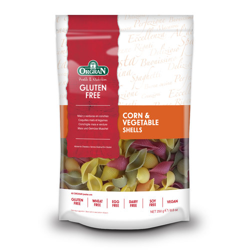 Orgran-Corn & Vegetable Shells 250G